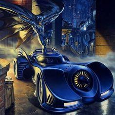 Mark Stutzman Batman art for OnStar - Batman Poster - Trending Batman Poster. - Mark Stutzman Batman art for OnStar Batman Fan Art, Batman Artwork, Batman Wallpaper, Batman And Superman, Batman Car, Batman 1966, Batman Stuff, Batman Poster, Batman Painting