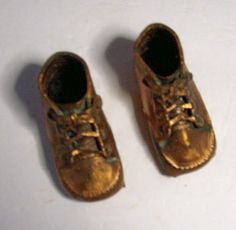 Vintage Bronze Baby Shoes by rustyitems on Etsy, $10.00