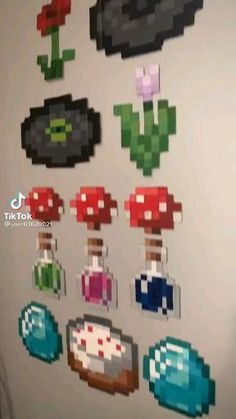 Diy Minecraft Decorations, Minecraft Room Decor, Minecraft Bedroom, Minecraft Art, Minecraft Creations, Minecraft Crafts, Minecraft Designs, Indie Bedroom, Indie Room Decor