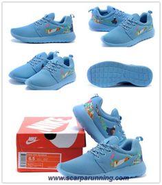the best attitude 7aa5e 314d7 borse online Nike Roshe Run 2015 Cielo BluFloral Logo