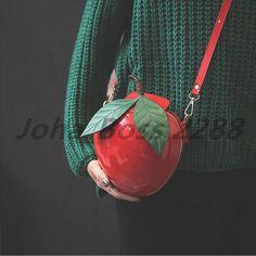 Lady Cute Apple Bag Clutch Purses Shoulder Bag Women Wedding Party Evening Bag