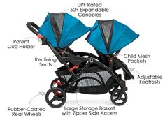 Contours Options Elite 2016 Stroller Baby Strollers For Twins With Car