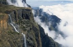 Located in the majestic Drakensberg Mountains in KwaZulu Natal, South Africa, the Tugela Falls are the second highest in the world at 947m. 'Tugel' means 'sudden' in Zulu.