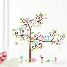 DIY Owl Tree Squirrel Wall Decals Removable Stickers Decor Art Kids Nursery Room | eBay