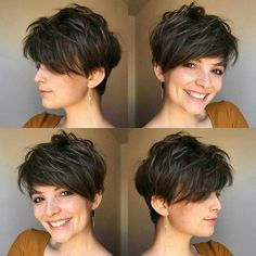 Best Pixie And Bob Short Haircuts For Women – Bob Hairstyles medium Short Hairstyles For Thick Hair, Short Pixie Haircuts, Hairstyles Haircuts, Cool Hairstyles, Short Hair Styles, Korean Hairstyles, Everyday Hairstyles, Long Short Hair, Short Hair Cuts For Women Pixie