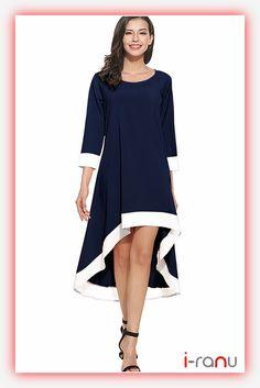 Magic blue crepe western long dress - i-ranu Western Dresses Online, Western Dresses For Women, Fancy Suit, Festival Wear, Party Wear, High Low, Cold Shoulder Dress, Fashion Outfits, Clothes For Women