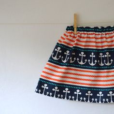 Nautical Anchor Skirt by Corinne Citrolo via Etsy.