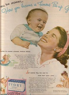 Hand, Face & Bath Soap ads ...Ivory Soap 50s