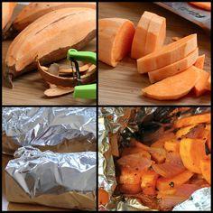 Grilled Sriracha Sweet Potato Packets