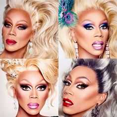 Mama Ru! RuPaul, drag makeup and hair