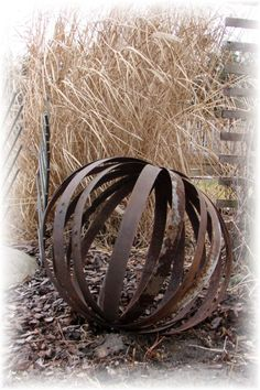 8 Best Whiskey Barrel Bands Images Barrel Yard Art Garden Art