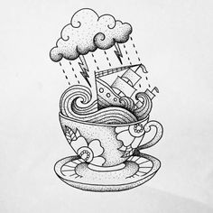 Storm in a Teacup tattoo by Makkala Rose                                                                                                                                                                                 Más