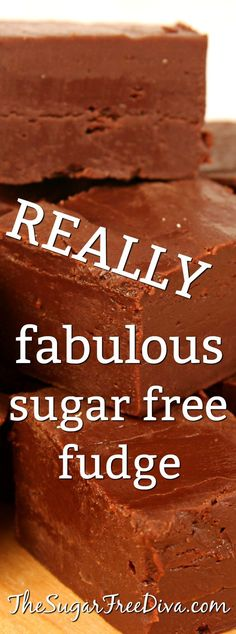 Fabulous Sugar Free Fudge recipe that is simple to make OMG! What is it that makes this easy fudge recipe so good? It is sugar free and tastes really yummy. It is also a perfect snack or dessert recipe too! Sugar Free Fudge, Sugar Free Deserts, Sugar Free Sweets, Sugar Free Candy, Sugar Free Recipes, Fudge Recipes, Candy Recipes, Dessert Recipes, Xmas Recipes