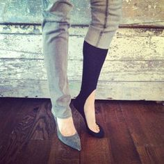 Keysocks - genius! Perfect for flats or heels!  - there must be a way to make these! i will figure it out!