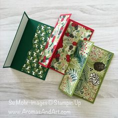 Aromas and Art - Su Mohr, Independent Stampin' Up! Demonstrator, and Independent Young Living Distributor Christmas Gift Card Holders, Homemade Christmas Cards, Xmas Cards, Christmas Crafts, Holiday Cards, Gift Cards Money, Itunes Gift Cards, Fun Fold Cards, Folded Cards