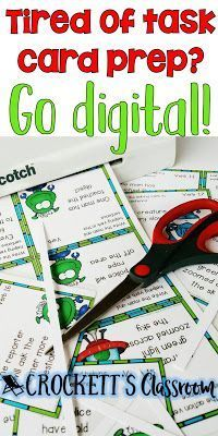 If you're tired of all the laminating, cutting, organizing and storing of task cards, it may be time to switch to digital.