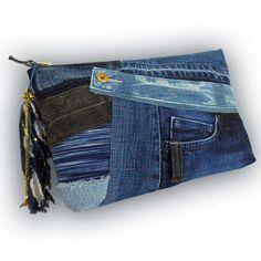 Recycling von alten Jeans & Hand-gefärbt Indigo von Kazuenxx