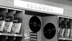 Woolworths record shelf displaying Embassy Records