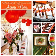 Asian Flair party decor