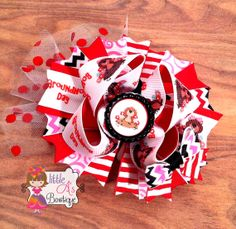 Groundhog Day OTT bow over the top bow girls by LittleAsBowtique, $12.50