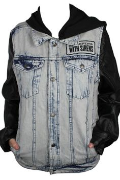 Custom Denim Jacket Outerwear from Sleeping With Sirens