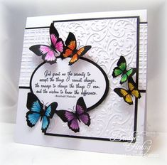 SC416 Rainbow Butterflies by bfinlay - Cards and Paper Crafts at Splitcoaststampers
