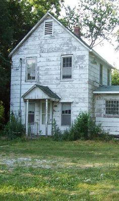 Old Weathered White Farm House