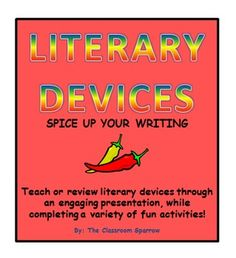 Literary Devices Presentation & Activities (Spice up your