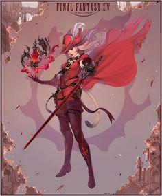ArtStation - Final Fantasy XIV 'Storm Blood' Red Mage, bom Yeon