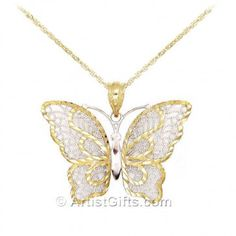 Diamond cut gold Butterfly necklace is part of our butterfly wedding jewelry collection. Gold Gold, Fashion Necklace, Fashion Jewelry, Jewelery, Jewelry Necklaces, Jewelry Box, Fine Jewelry, Jewelry Making, Butterfly Earrings