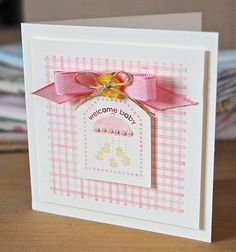 Punch Bunch. Stampin' Up ideas and supplies from Vicky at Crafting Clare's Paper Moments: Baby cards  Stampin' Up!