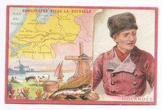 Holandés - Hollandais  -  Géographie - Chromo Chocolat La Estrella - Trade card