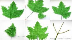 step by step masterclass Seed Bead Flowers, Wire Flowers, Seed Beads, Beading Tutorials, Beading Patterns, Flower Patterns, French Beaded Flowers, Beaded Crafts, Miniature Trees