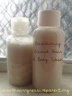 Conditioning Coconut Milk Hair & Body Wash Tutorial DIY Natural Baby Shampoo .
