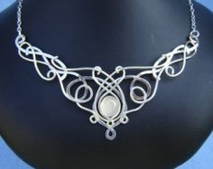 Gothic Jewelry Box Diy I found 'SilverMoon Necklace Wedding Bridal Celtic Elven Medieval Fairytale Renaissance Pendant' on Wish, check it out! Wire Wrapped Jewelry, Wire Jewelry, Jewelry Crafts, Jewelry Art, Wedding Jewelry, Jewelry Design, Jewlery, Jewelry Necklaces, Bracelets