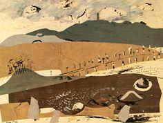 Avebury, Wiltshire by John Piper John Piper, Edward Hopper, Abstract Landscape, Landscape Paintings, Art Paintings, Gouache, Art For Art Sake, Landscape Illustration, England