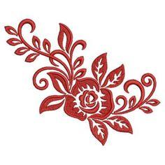 Heirloom Damask Roses 1 embroidery design