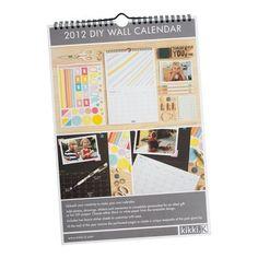 A DIY calendar, such a great and inspiring idea!