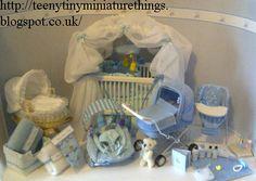 original pinner writes: Miniature 1/12th nursery, handmade by me.