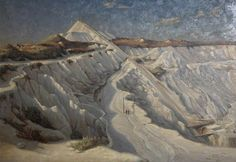 China Clay Pit, Lee Moor by Herbert Truman 1937 China Clay, Cornwall England, St Ives, Art Uk, Your Paintings, Plymouth, Art Boards, Britain, Trust