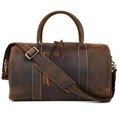 Vintage Leather Duffle Bag  Dapper  Leather  TravelBag  DuffleBag   OvernightBag  WeekendBag 8f68a25e0776b