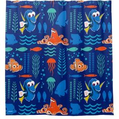 Finding Dory Sea Pattern Shower Curtain