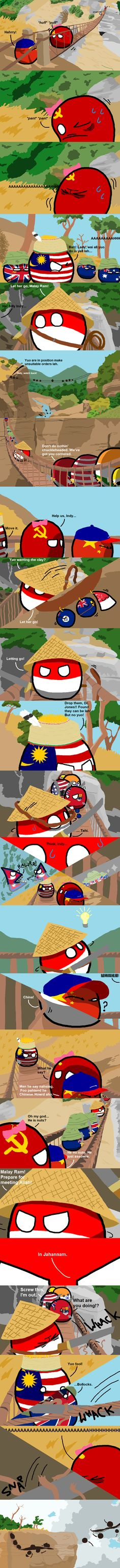 Indonesia Jones and the Temple of Batu | Polandballs Countryballs