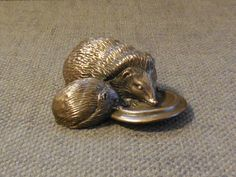Adorable Vintage HEDGEHOG Figurine By PURBECK DESIGNS...Cute British Wildlife Woodland Animal Ornament...Barbara Linley Adams! Bronze Coated by SlimandSugar on Etsy