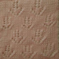 Hyacinths Cast on 37sts worsted or dk weight with size 6 needles Row 1: sl 1, knit across Row 2 & all even rows (WS): sl1, purl Across Repeat rows 1