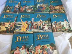 The Bible Story Set of 10 Childrens Hardcover Books 1953 By Arthur S. Maxwell