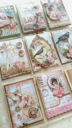 Shabby Chique Pocket Letters card idea