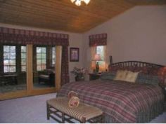 Masterful designed chalet bedroom