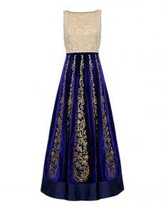 Regal Purple Anarkali Suit with Sequin Embellishment