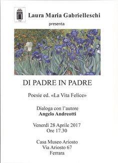 Domani a Ferrara presentazione del libro di poesie Di padre in padre